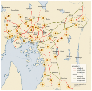 sykkelveier oslo kart Sykkelveinettet i Oslo: Status utbygging   SYKKELSTIEN's BLOGG sykkelveier oslo kart