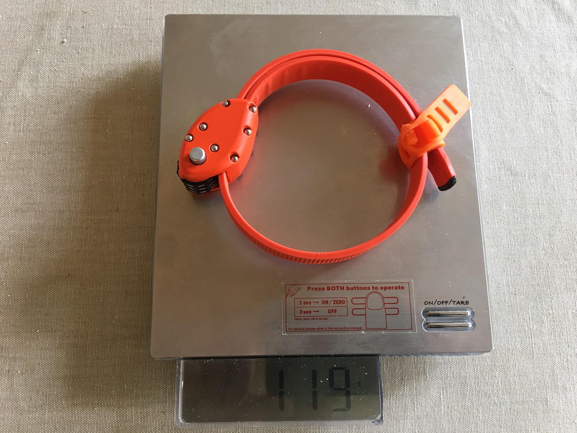 Ottolock på vekta: 119 gram